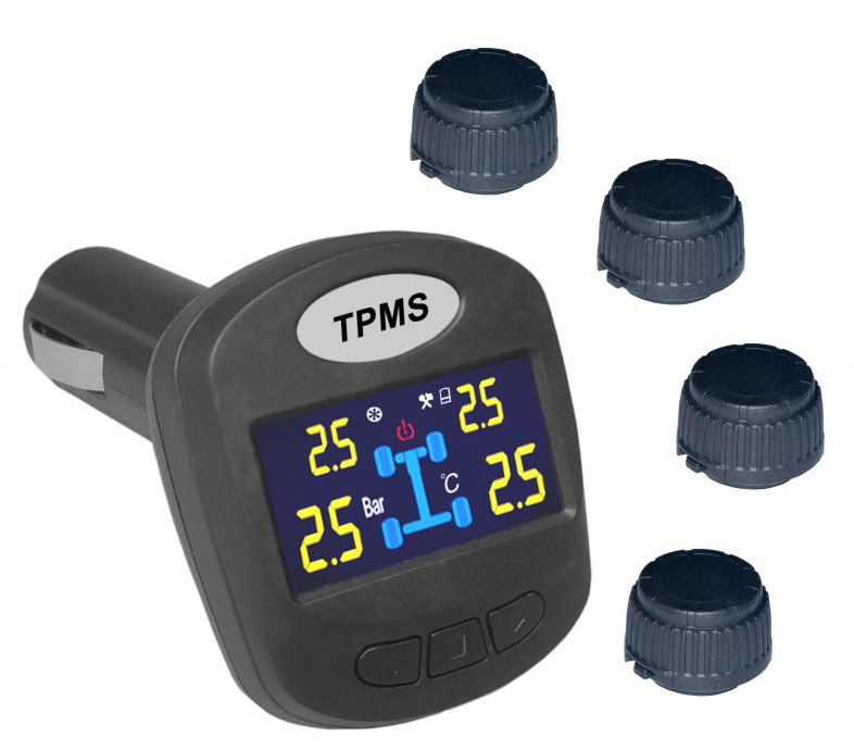 TPMS kontrola tlaku v pneumatice 4 externí čidla