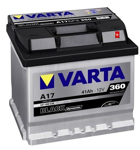 Autobaterie VARTA BLACK dynamic 41Ah 12V 360A 541400