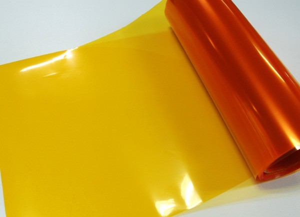 Transparentní fólie na světla - oranžová