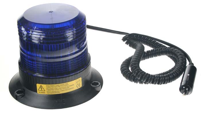 Zábleskový maják 12-110V, modrý