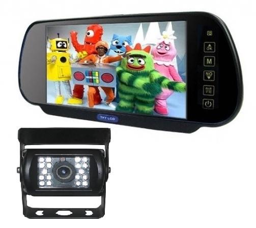 """LCD do auta ve zpětném zrcátku 7"""" palců + couvací kamera Truck c107ccd"""