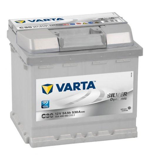 Autobaterie VARTA SILVER dynamic 54Ah 12V 530A