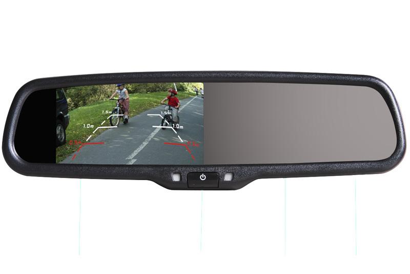 Monitor ve zpětném zrcátku Hyundai, Kia, Mitsubishi - AK-043LA