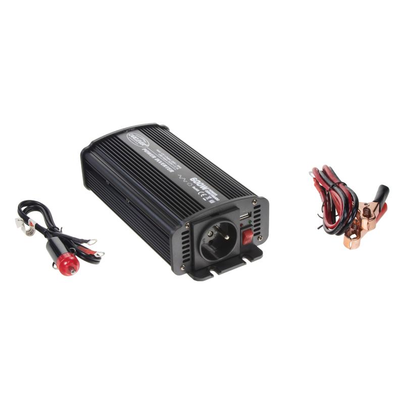 Měnič napětí z 12/230V + USB, 600W