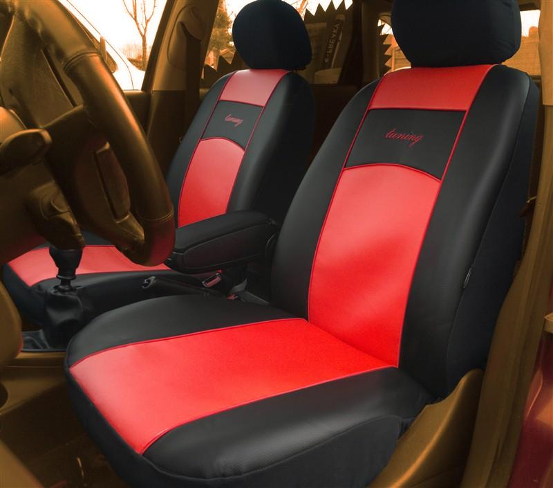 Autopotahy kožené Tuning černočervené
