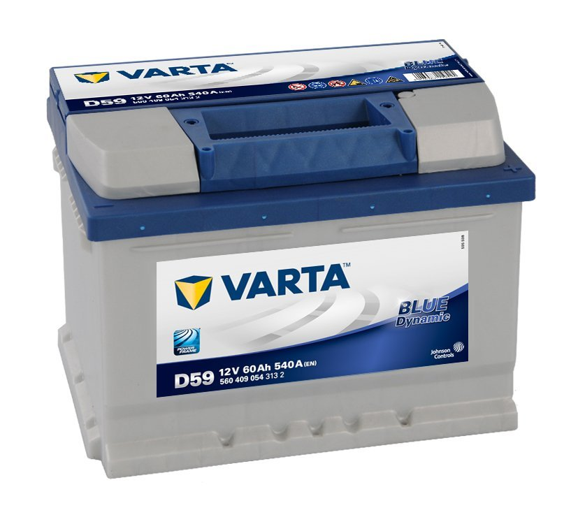 Autobaterie VARTA BLUE dynamic 60Ah 12V 540A 560408