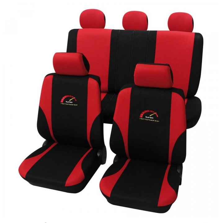 Autopotahy Turbo - červené