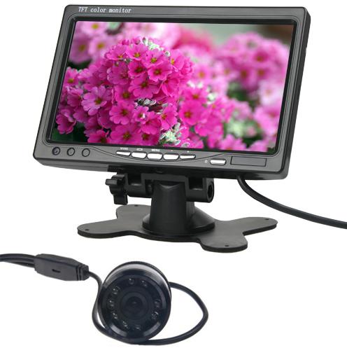 7 palcový TFT LCD monitor do auta + Couvací kamera c101 s nočním viděním