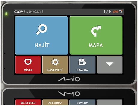 """MIO Combo 5207 GPS navigace s kamerou, LCD 5"""", mapy EU (44) Lifetime"""