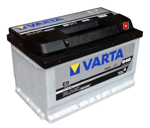 Autobaterie VARTA BLACK dynamic 70Ah 12V 640A 570144