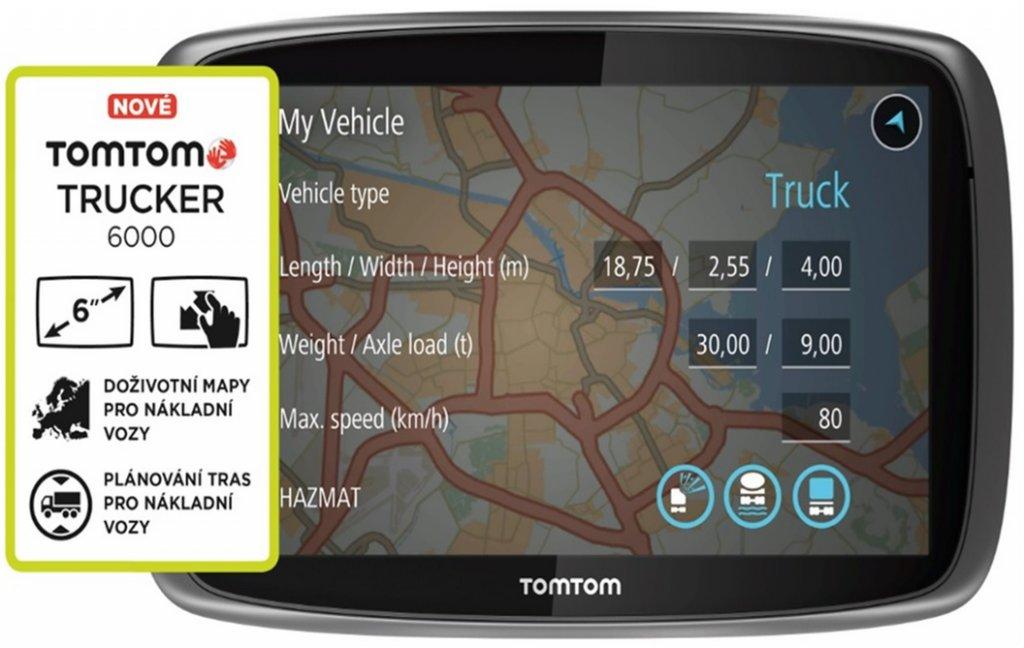 Navigace TomTom TRUCKER 6000, LIFETIME