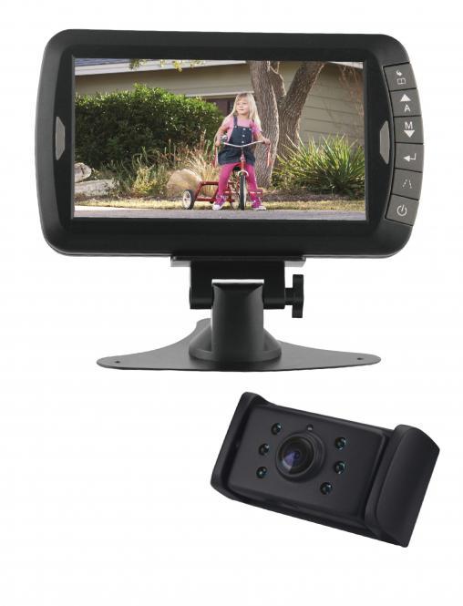 """Bezdrátové LCD 7"""" + couvací kamera s nočním viděním 12/24V"""