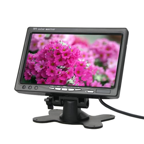 LCD monitor do auta 7 palcový Cinch - TFT - digitální