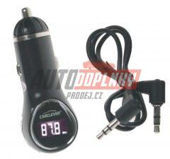 MP3/FM modulátor bezdrátový s USB/AUX vstup do CL, USB nabíječka