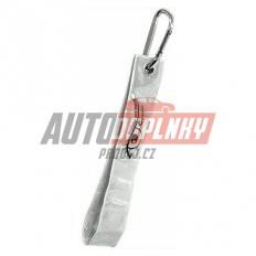 Reflexní přívěšek s karabinou - stříbrný