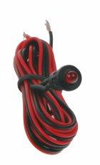Červená blikací kontrolní LED s objímkou a kabelem