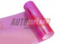 Transparentní fólie na světla - chameleon růžová