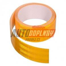 Samolepící páska reflexní 5m x 5cm žlutá