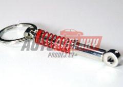 Přívěsek na klíče - tlumič s červenou pružinou