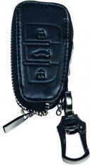 Kožený obal se zipem černý pro klíč Audi