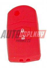 Silikonový obal pro klíč Mazda 6, 5, 3, 2, 2-tlačítkový, světle červený